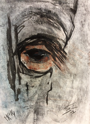 Horse eye - 70 x 100cm      -      workshop with Lis Prüssen   --  SOLD