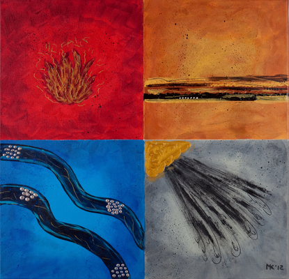 4 elements - 50 x 50cm  --  SOLD