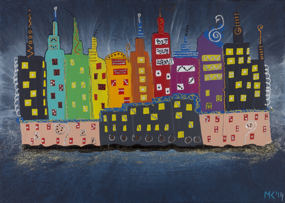 City lights - 70 x 50cm  --  SOLD