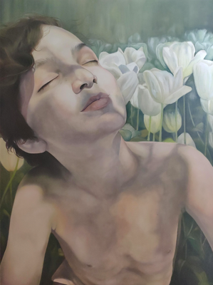 FIRST WARM DAYS · 2020 · oil on linen 160X120cm