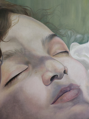 FIRST WARM DAYS Detail · 2020 · oil on linen 160X120cm