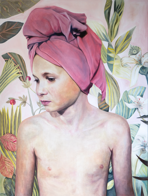 AFTER BATH 2019 · oil on canvas 160x120cm