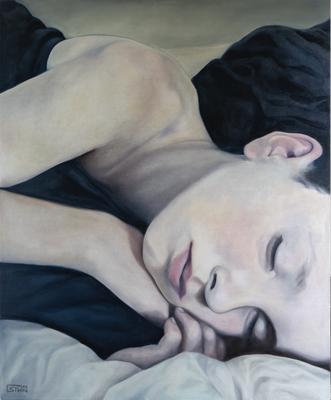 SLEEP · 2020 · oil on linen 100X120cm