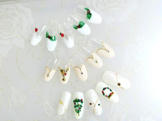 この時期限定のクリスマス定額¥5500デザイン♪