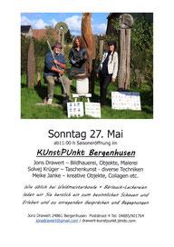 """27.Mai 2018: Teilnahme an der Saisoneröffnung der """"Galerie im Stall"""" in Bergenhusen mit TASCHENKUNST"""