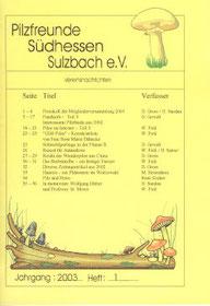 Jahrgang 2003 / Heft 1
