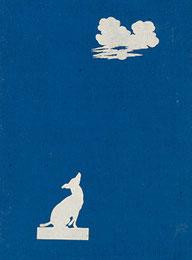 Hund, den Mond anbellend