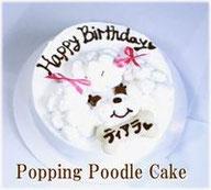犬ケーキ,トイプーのお顔のcake,わんちゃん用無添加おやつ,フード