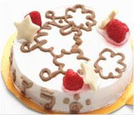 かわいいプードルを描いた犬用ケーキです,無添加