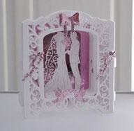 Geschenkbox mit 3 D Karte zur Hochzeit