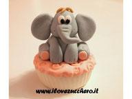 tutorial elefantino cupcake pasta di zucchero