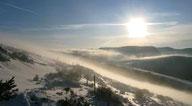 Randonnée raquette hivernale sur le Tanargue