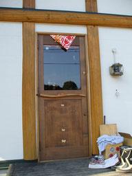 木製玄関ドア 店舗 施工例 オリジナル 個性的