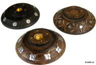Porte cônes & bâtonnets d'encens forme disque antique