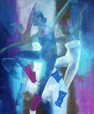 Tanztheater, Öl auf Leinen, 120 x 80 cm