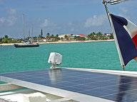 La Grande Traversée : Saint Martin sur le bateau à la marina