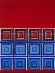 Tile bleu  -  61x46