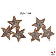 Boucles d'oreilles trois étoiles