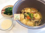 大阪兵庫で家事代行サービスの食事作りの朝食でつくねのお味噌汁