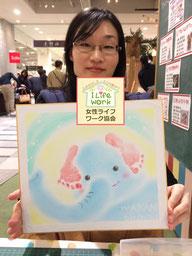 大阪・兵庫の親子イベントでパステルアートを描こう教室2