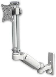 モニターアーム, ガススプリング, ウォールマウント, 壁固定, 医療用モニターアーム