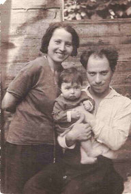 С дочкой Мифой, 1932 г.
