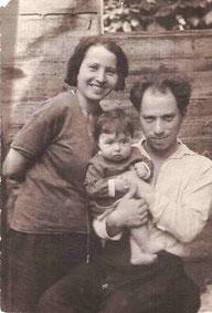 АЮ-7. С дочкой Мифой, 1932 г.