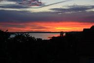 Morgenrot über dem See