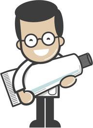 Dimitri Comicfigur - Zahnpastatube