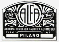 alfa logo badge 1910