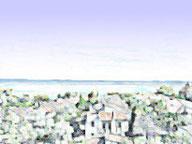 海沿いの住宅地