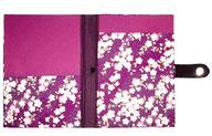DinA5 Mappe für Notitzblöcke / Schreibblöcke mit Magnetverschluß