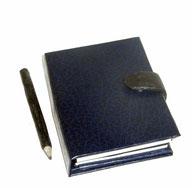 Kalender Mappe 2013 Bezugspapier Lederoptik dunkelblau