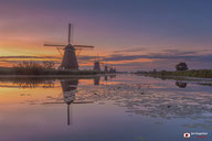 Landschapsfotografie: Stilte tijdens de zonsopkomst bij de molens van Kinderdijk
