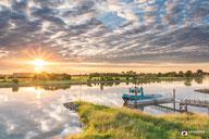Landschapsfotografie: De veerpont bij Gorssel en rivier De IJssel