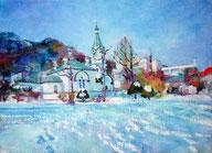 晴れた朝 函館ハリストス正教会