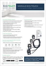 Fiche technique et descriptive de notre solution Eco-Touch thermostat intelligent et connecté