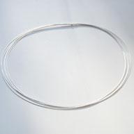 Halsreif aus Silber fünfreihig