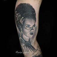 khal drogo tattoo portrait in Black and Grey. Done in Gran Canaria