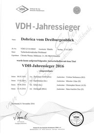VDH Jahressieger 2016