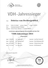 VDH Jahressieger 2014