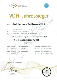 VDH Jahressieger 2015