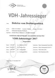 VDH Jahressieger 2017