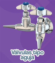 Válvulas tipo aguja water saver