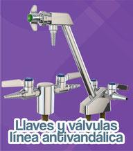 llaves y valvulas linea antivandalica water saver