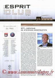 Programme VIP  Lyon-PSG  2014-15