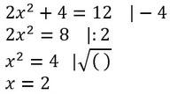 Beispiel für das Lösen von Potenzgleichungen