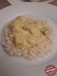 poulet curry coco riz sans GLO