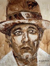 """""""Joseph Beuys"""" 150x120 Kaffee auf Leinwand"""