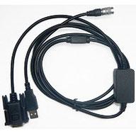 Cable serial y usb transferencia topcon